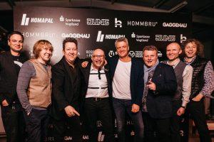 Die Prinzen mit HOMMBRU CEO Matthias Hommel