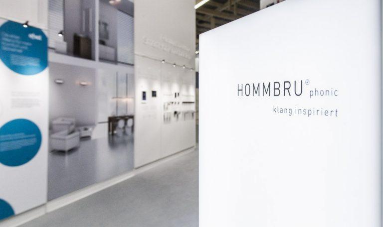 Messestand der Firma JUNG mit HOMMBRU auf der der Light + Building , Frankfurt 17.03.2016;